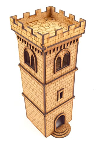 WWG Medieval Town - Torre Defensiva almenas - 28mm