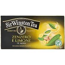 Sir Winston Tea Infusione per Bevande Calde, Zenzero Limone RFA - 20 Astucci