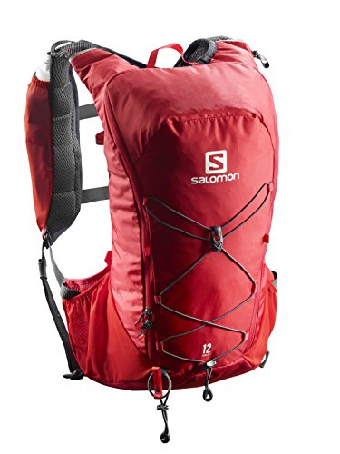 Salomon Agile 12 Set, Mochila de Running para Adulto, Unisex, Rojo (Barbados Cherry/Graphite), 0-29L