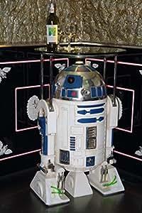 Roboter Butler R2D2 mit Tablett lebensgroß 100cm für draußen aus Hochwertiger Glasfaserkunststoff (GFK)