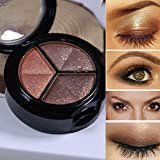 LHWY Smoky Cosmetic Set 3 colors Professional Natural Matte Makeup Eye Shadow (Multicolor,04)