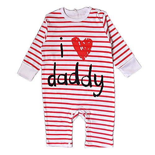DINGANG® I Love My Daddy Mummy Baby Junge Mädchen Unisex Lange Ärmel (Kostüme Und Daddy Baby)