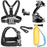 Neewer - Kit de accesorios de deportes al aire libre para cámaras GoPro Hero 4, Negro/Plata héroe HD 4 3 + 3 2 1, SJ4000 SJ5000, SJ6000