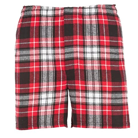 Boxercraft Mens Classic Flannel Boxer Shorts / Underwear / Nightwear (M) (Classic Red/ Black)