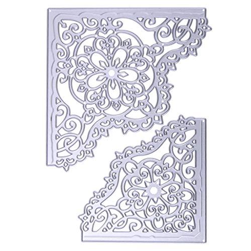 HOthap Schöne Ecke Metall Stanzformen Schablone DIY Scrapbooking Präge Papier Karte Dekoration Mit Hoher Qualität (Halloween Dekoration Mit Hoher Qualität)