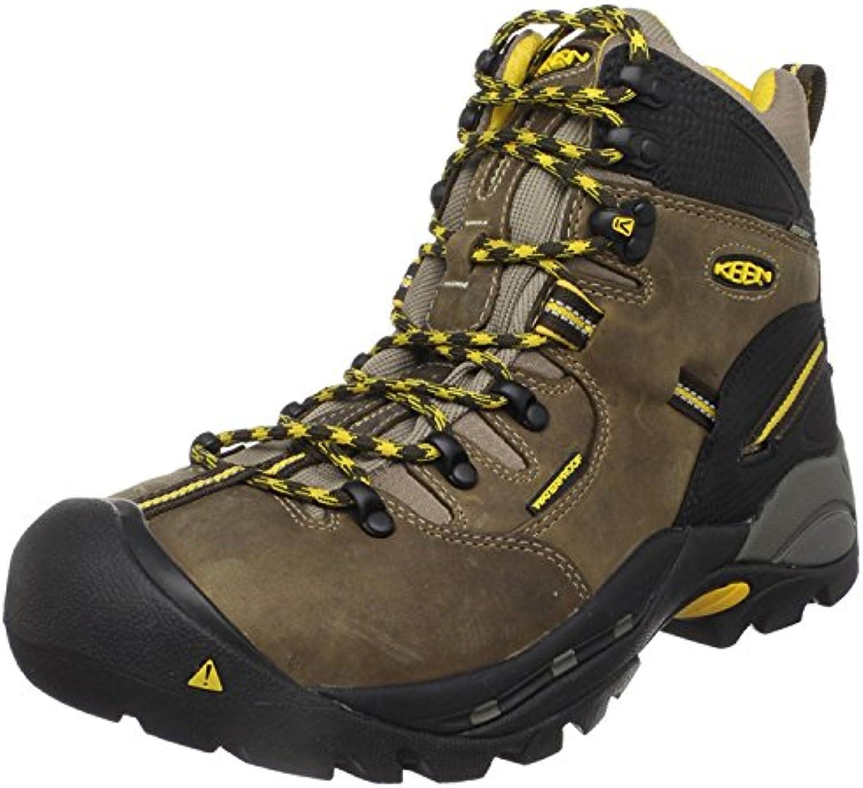KEEN Utility Men's Pittsburgh Steel Toe Work Boot, negro pizarra, 40 2E EU/6.5 2E UK