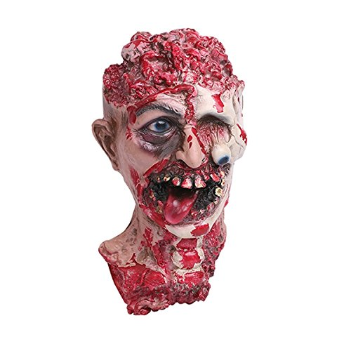 SHUFAGN,Horror-Vampir-Kopf-Halloween-Dekoration(Color:ROT,Size:GANZE)