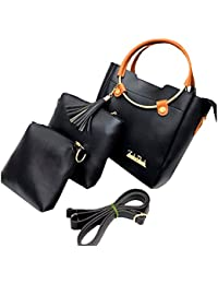Zara Black Handbag Combo Offer For Woman With Sling Bag / Zara Set Of 3 Handbag For Women And Girls Stylish Branded...