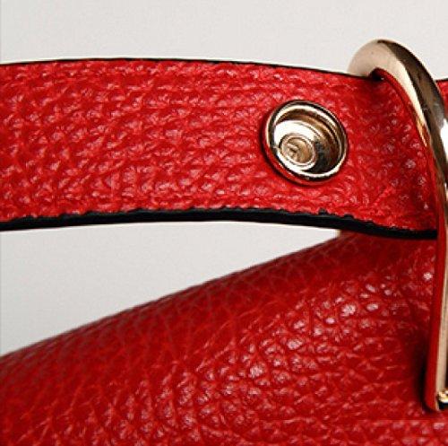 Schwein-Beutel-Handtaschen-Sattel-Beutel-koreanische Version Bewegliche Schulter-Beutel,BlackAndRed Red