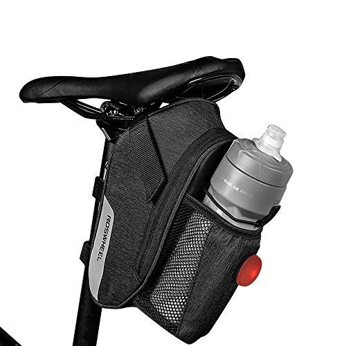Roswheel Fahrradtasche mit Rückleuchte, Fahrrad Satteltasche Wasserdicht Rahmentasche Fahrrad Tasche mit Reflektierende Elemente für Alle Fahrräder Mountainbikes Rennräder
