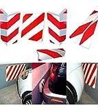 takestop® PANNELLO ADESIVO PARABORDO 38x20x2 CM PROTETTORE SEGNALETICO PER AUTO E MOTO PARAURTI SALVAPORTA GARAGE PARCHEGGI BOX