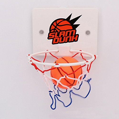 Basketballkorb zum Aufhängen, für Innen- und Außenbereich, zum Aufhängen, Wandmontage, Basketballkorb, Basketballkorb und Netz, Mini-Basketball-Brett für Büro, Spiel, Kinder (weiß)