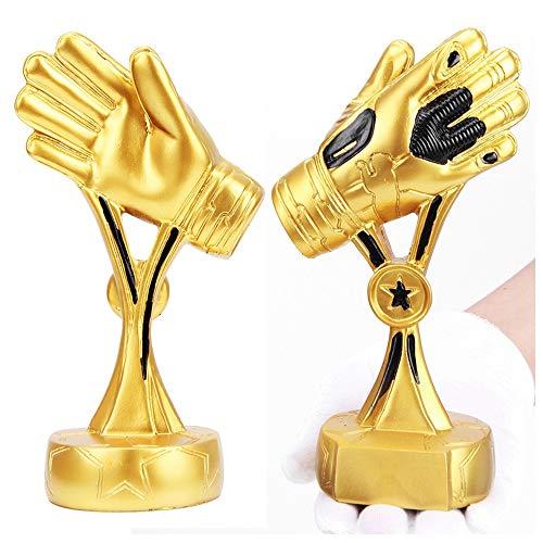 LGFB Gold Handschuhe Trophäe Handwerk Modell Fußballspiel Cup Fußball Replik Fans von Geschenkharz Fußballfan Souvenir kann Galvanik angepasst Werden,A