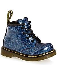 8b643b016b8c2 Dr. Martens Girls Infants 1460 Glitter Blue Multi Side Zip Glitter Boots  24291400-UK