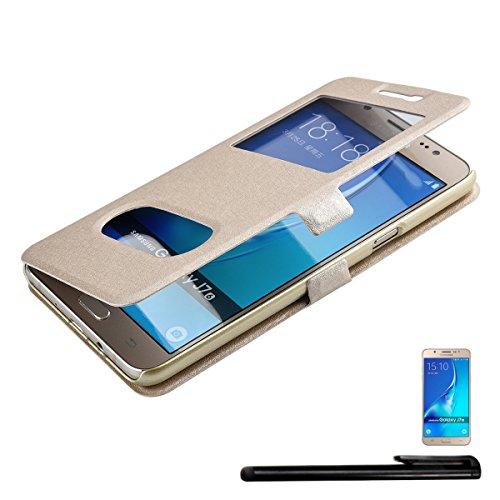 4in1 Smart funda con ventana para Samsung Galaxy J7 (2016) - carcasa f