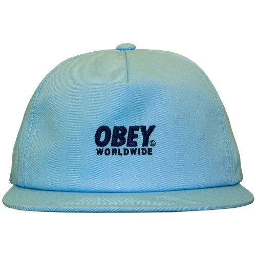 Obey–Gorra con visera plana para hombre PORTLAND snapback–Light Blue