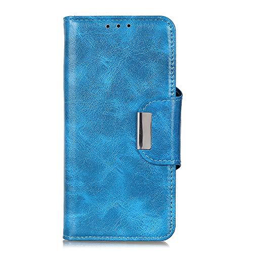 Scheam Funda Xiaomi Mi Mix 3, Carcasa Compatible para Xiaomi Mi Mix 3, Libro de Cuero con Tapa y Cartera, Cover Protectora con Ranura para Tarjetas y Billetera, Cierre Magnético, Azul