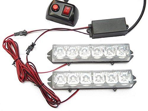 LED Voiture Car Avertissement 6modes flash 12V 6W de danger de sécurité d'urgence de la torche électrique Grille Du précipité de la plate-forme Strobe Light Lamp Bar KM306–2 personalizzare