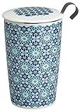 Eigenart TEAEVE Teetasse, Becher mit Sieb + Deckel, Andalusia Marine Lux Line im Geschenkkarton
