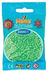Desconocido Hama Perlen 501-47 - Cuentas Mini 2000 Pieza Pastel Verde Importado de Alemania