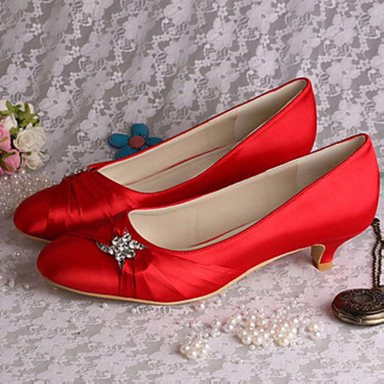 RTRY Las Mujeres'S Wedding Shoes Bomba Básica De Satén Stretch Primavera Otoño Parte &Amp; Vestido De Noche Azul...