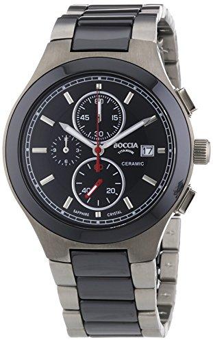 Boccia Herren-Armbanduhr XL Titanium Chronograph Quarz Titan 3764-01