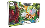 #1: Pola Puzzles Jungle Party Tiling Puzzles 60 Pieces For Kids Age 5 years and above Multi Color Size 36CM X 21CM Jigsaw Puzzles for Kids