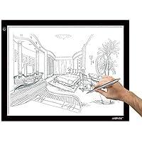 AGPtek 14.6X18.5Inch LED Artigianato Tracing Luminosa a LED A3 Dimensione Scatola chiara ultrasottile cavo di alimentazione USB Regolabile Luminosità Tatuaggio Pad animazione, sketch, Progettazione Stencilling - Quilting Tavolo