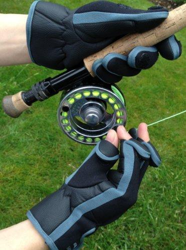 Neopren-Handschuhe mit Klettverschluss (umklappbares Fingerspitzenteil) von Easy Off Gloves –ideal zum Reiten, Schießen, Angeln, Radfahren, für Gartenarbeit, Fotografie, Heimwerker und als allgemeine Arbeitskleidung. (EU 11–XL) - 3