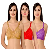 #10: Aruba Cross Bra- Pack of three - Beige, Purple and Red