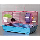 Pets Empire Hamster Cages With Bed Wheel Bottle Dish & Platform 47x30x27cm Color May Vary