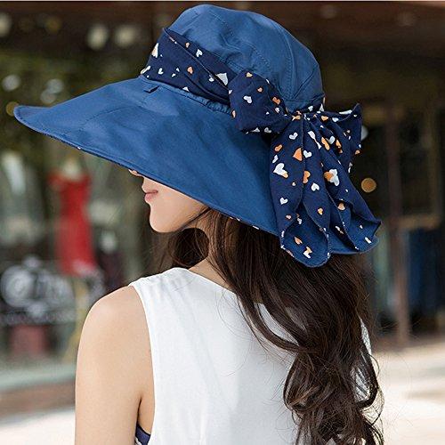 Surker Anti-UV Summer Womens Plage Folding Hat Sun Hat Beige