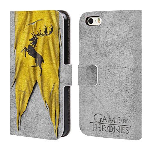 Offizielle HBO Game Of Thrones Targaryen Sigil Flags Brieftasche Handyhülle aus Leder für Apple iPhone 6 Plus / 6s Plus Baratheon