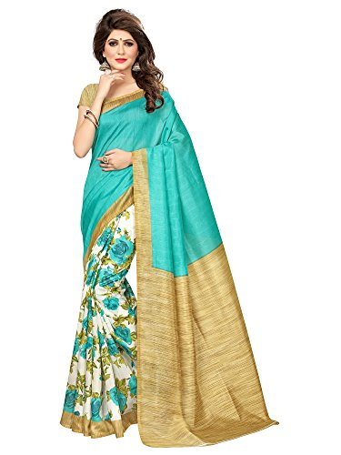 Saree Mall Women\'s Art Silk Saree With Blouse Piece (Srj027_Green)
