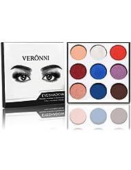 VERONNI Palette Fard à Paupière Matte Shine Matalic Maquillage Yeux waterproof 9 Couleur