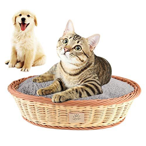 Honey MoMo Hundehütte, Haustier-Zubehör, ovales Hausbett, warm, weich, für Hunde/Katzen, Beige/Kaffee -