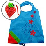 MStar Strawberry Nylon Foldable Reusable Shopping Bags Sky Blue, [Importado de UK]