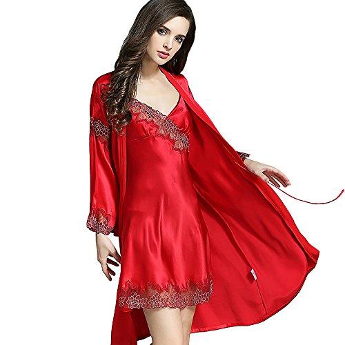 LSHARON - Chemise de nuit - Femme red