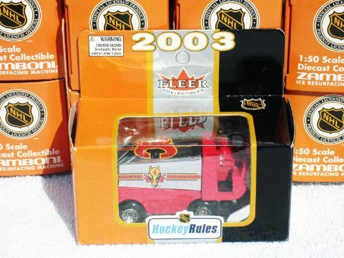 calgary-flames-mini-diecast-zamboni-toy-ice-resurfacing-machine-150-scale-team-collectible-by-fleer-
