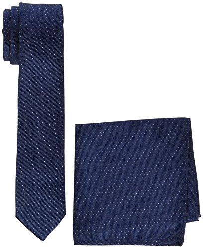 MLT Belts & Accessoires Herren Krawatten-Set Manhattan, Blau (Navy 1026), One Size