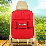 GMM® teilig KFZ-Tasche KFZ-Aufbewahrungstasche Kombitasche Aufbewahrungsschuppen Sitz Tasche aufgehoben Aufbewahrungstasche rot
