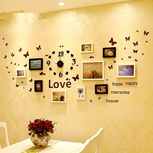 hexiaomao-wooden-wall-pictures-watches-butterfly-wall-combination-box-10-black-and-white-mash-ya-pai