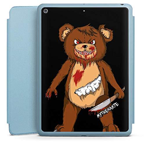 DeinDesign Smart Case hellblau kompatibel mit Apple iPad 2018 Hülle Tasche mit Ständer Smart Cover Halloween Horror Mythenakte