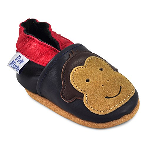 5179gG60pPL - BEST BUY #1 Petit Marin Beautiful Soft Leather Baby Shoes with Suede Soles - Toddler Shoes - Infant Shoes - Pre Walker Shoes - Crib Shoes - Monkey 6-12 Months Reviews and price compare uk