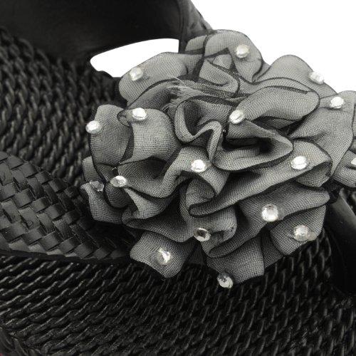 Footwear Sensation, Infradito donna Nero nero Nero (nero)
