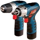 Silverline 565749 - Taladro atornillador y atornillador de impacto, 10.8V