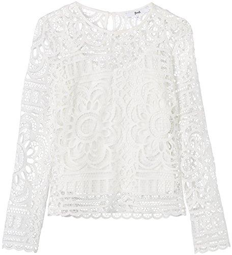 FIND Haut en Dentelle au Crochet Femme Blanc (Ivory)