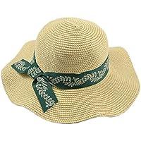 LBY Sombrero De Paja Grande De Las Señoras Sombrero De La Playa del Sol De La Marea De La Marea De La Marea del Sombrero De La Paja De Las Señoras del Recorrido Sombreros de Sol