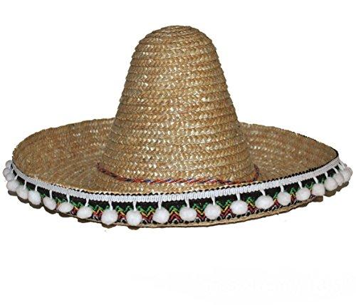 Karneval Klamotten Kostüm Riesenhut Mexico natur Zubehör Hut Karneval
