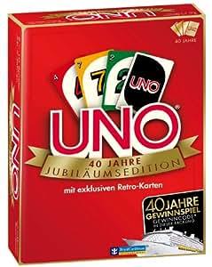 Mattel W4142 - Mattel Spiele UNO Jubiläums Edition, Kartenspiel, Retro Look